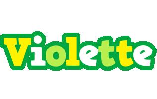 Violette soccer logo