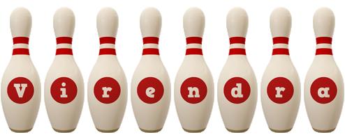 Virendra bowling-pin logo