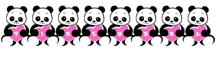 Virendra love-panda logo