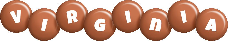 Virginia candy-brown logo