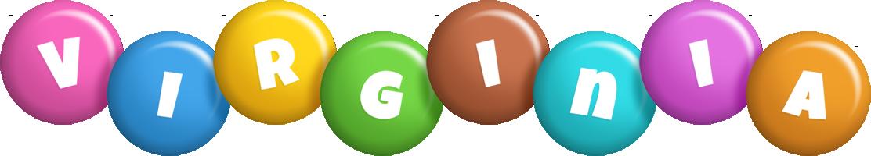 Virginia candy logo
