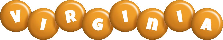 Virginia candy-orange logo