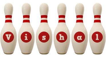 Vishal bowling-pin logo