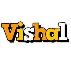 Vishal cartoon logo
