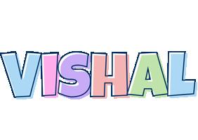 Vishal pastel logo