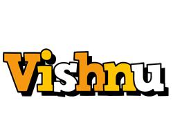 Vishnu cartoon logo