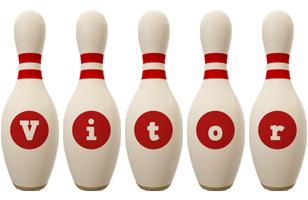 Vitor bowling-pin logo