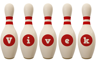 Vivek bowling-pin logo