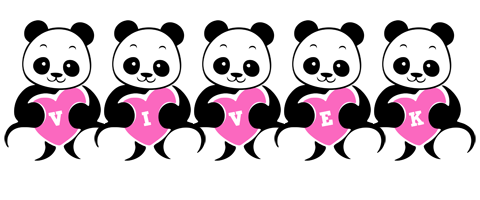 Vivek love-panda logo