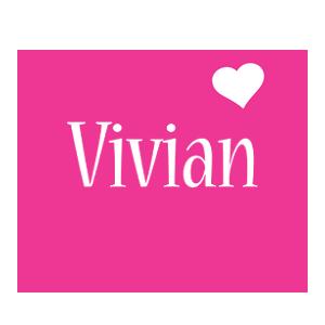 Vivian love-heart logo
