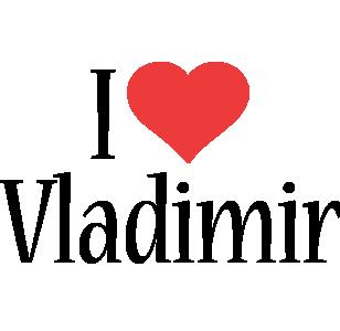 Vladimir i-love logo
