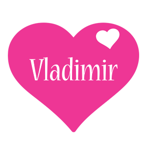 Vladimir love-heart logo