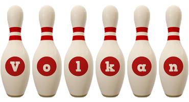 Volkan bowling-pin logo
