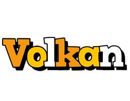 Volkan cartoon logo