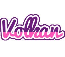 Volkan cheerful logo