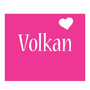 Volkan love-heart logo