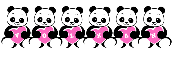 Volkan love-panda logo