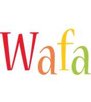 Wafa birthday logo
