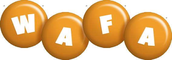 Wafa candy-orange logo