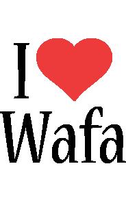 Wafa i-love logo