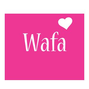 Wafa love-heart logo