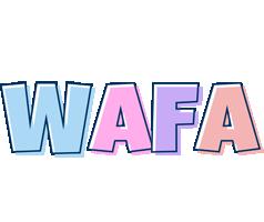 Wafa pastel logo