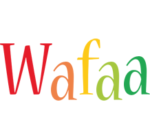 Wafaa birthday logo