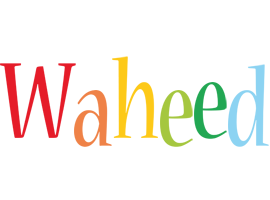 Waheed birthday logo