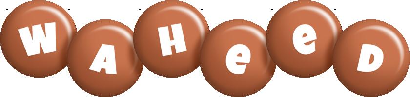 Waheed candy-brown logo