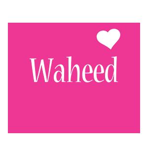 Waheed love-heart logo