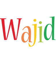 Wajid birthday logo