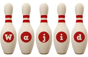 Wajid bowling-pin logo