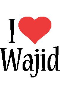 Wajid i-love logo