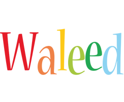 Waleed birthday logo