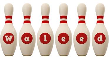 Waleed bowling-pin logo
