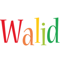 Walid birthday logo