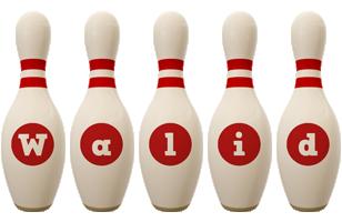 Walid bowling-pin logo