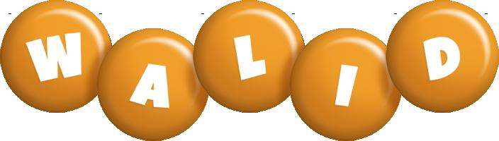 Walid candy-orange logo