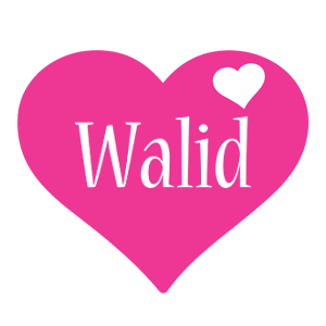 Walid love-heart logo