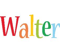 Walter birthday logo