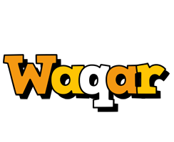 Waqar cartoon logo