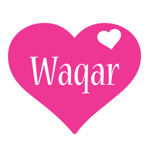 Waqar love-heart logo