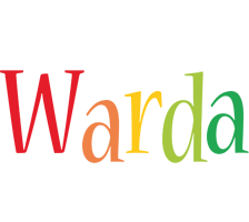 Warda birthday logo