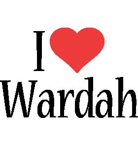 Wardah i-love logo