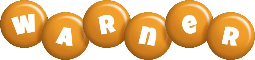 Warner candy-orange logo
