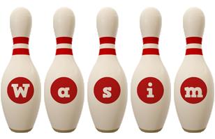 Wasim bowling-pin logo