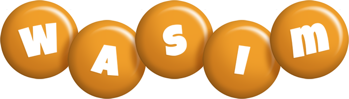 Wasim candy-orange logo