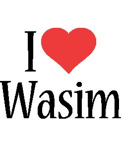 Wasim i-love logo