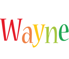 Wayne birthday logo