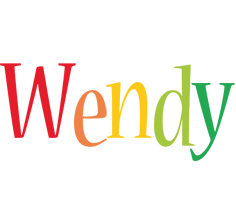 Wendy birthday logo
